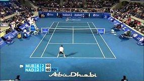 Andy Murray sutriuškino Rafaelį Nadalį ir pateko į finalą Abu Dabyje