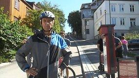 Trondheime, Norvegijoje, įrengtas pirmasis pasaulyje dviračių keltuvas