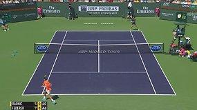 Rogerio Federerio gražus taškas Indian Velso pusfinalyje