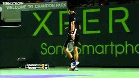 Gražus Novako Džokovičiaus taškas mače su Juanu Monaco