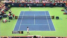 Novakas Džokovičius pirmos raketės titulą pažymėjo pergale