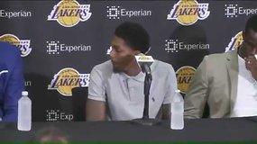 """Klausimas apie Kobe Bryantą pribloškė """"Lakers"""" žaidėjus"""
