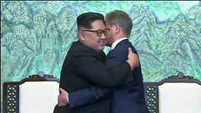 Pietų ir Šiaurės Korėjos pasirašys taikos sutartį užbaigdamos 68 metus trukusį karą