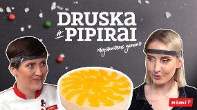 """""""Druska ir pipirai"""": saulėtas kąsnelis vasaros – lengvas persikų ir jogurto tortas"""