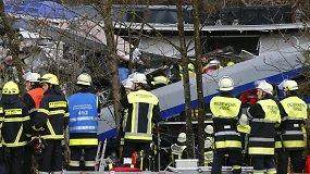 Vokietijoje susidūrė du keleiviniai traukiniai