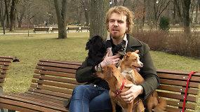 Žvaigždės augintinis: Robertas Kalinkinas ir keturi jo šunys