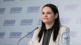 S.Cichanouskaja: esu nacionalinė lyderė, mano misija – nauji sąžiningi rinkimai