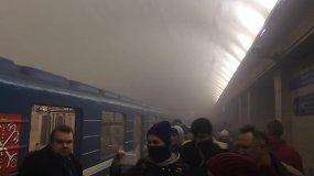 Sankt Peterburgo metro nugriaudėjo sprogimas, yra žuvusių