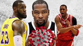"""""""Atsarginiai"""": gilėjanti NBA krizė ir traumų sustabdytos žvaigždės"""