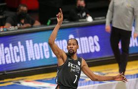 """Nukeltose rungtynėse – K.Duranto šėlsmas ir triuškinanti """"Nets"""" pergalė"""