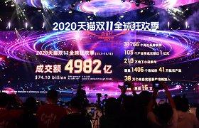 """""""Alibaba"""" vėl pasiekė naują """"Vienišių dienos"""" pardavimų rekordą"""