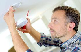 Vaizdo patarimai, norintiems namuose įsirengti dūmų detektorių