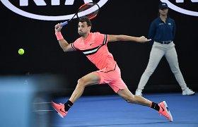 """Australian Open"" trilerio vertame mače Grigoro Dimitrovo pergalė"