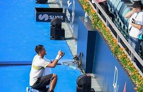 Po retos pergalės teniso kortuose – Kinijos tenisininko piršlybos