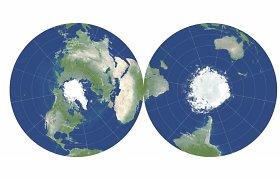 Astrofizikai sukūrė pirmą tokį dvipusį pasaulio žemėlapį – kam to prireikė?