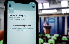 """D.Trumpas: jo blokavimas socialinėje žiniasklaidoje yra """"katastrofiška klaida"""""""
