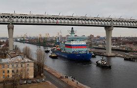 Rusija išbandė didžiulį atominį ledlaužį