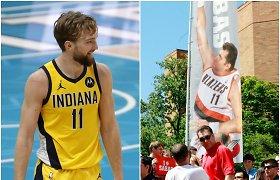 Kaip tėvas, taip ir sūnus: NBA klipe identiški ir magiški dviejų Sabonių triukai