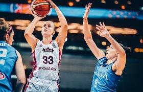 Latvijos krepšininkės dramatiškai išplėšė kelialapį į pasaulio čempionatą
