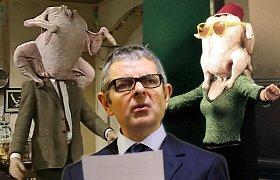 """Rowanas Atkinsonas supyko ant """"Draugų"""": kaltina iš pono Byno pavogus sceną su kalakutu"""