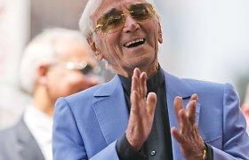 Holivudas pagerbė legendinį prancūzų dainininką Charles'į Aznavourą