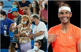 Chaosas aikštyne: Rafaelį Nadalį įžeidinėjusi moteris išvesta iš tribūnų