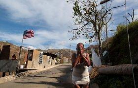 Marijos uragano pasekmės Puerto Rike – iki šiol neaišku, kiek žuvo žmonių