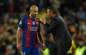 "Po 8 metų ""Barcelona"" klubą palieka Javieras Mascherano"