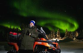Karolis Mieliauskas keturračiu pervažiavo Laplandiją, kuri žiemos miegu nemiega