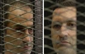 Suimti du buvusio Egipto prezidento H.Mubarako sūnūs
