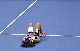 """""""US Open"""" teniso turnyro moterų vienetų finalas: Naomi Osaka palaužė Viktoriją Azarenką"""
