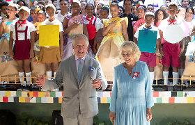 Princas Charlesas Havanoje atidengė Williamo Shakespeare'o statulą