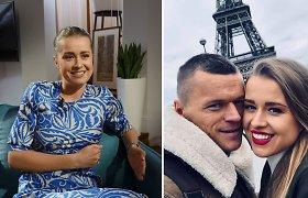 """Žinomo futbolininko žmona Sandra Šernė: """"Esu dėkinga vyrui už tai, kad suteikė man puikų gyvenimą"""""""