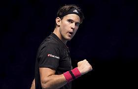 Startavo finalinės ATP kovos: praėjusių metų finalo pakartojime – saldus austro revanšas