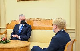 """G.Nausėda """"demonstruoja raumenis"""": užsimanė pabūti D.Grybauskaite?"""