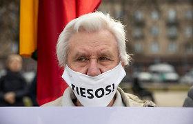 Mitingas, skirtas palaikyti Genocido ir rezistencijos centro direktorių Adą Jakubauską