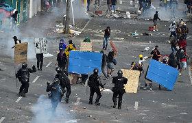 """JT pasmerkė """"perteklinį"""" jėgos panaudojimą prieš protestuotojus Kolumbijoje"""