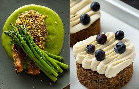 Savaitgalio pietums – gardūs lašišos kepsneliai ir aguoniniai pyragaičiai
