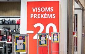 Pardavėjams, neinformuosiantiems pirkėjų apie kainų sumažinimo dydį, galės būti skiriamos baudos