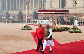Smogo gaubiamame Delyje viešinti A.Merkel kauke nesinaudojo