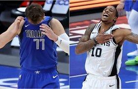 """Europiečių vedamus """"Mavericks"""" pražudė """"Spurs"""" lyderio pergalingas šūvis"""