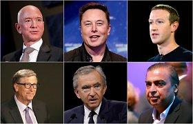 Testas: ar žinote 10 turtingiausių pasaulio žmonių?