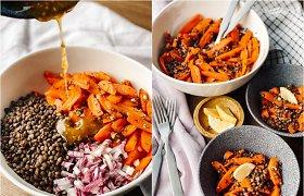 Maisto tinklaraštininkės saugaus apsipirkimo patarimai ir sočių salotų receptas