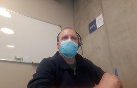 Karštojoje koronaviruso linijoje dirbantis Naglis Miknevičius