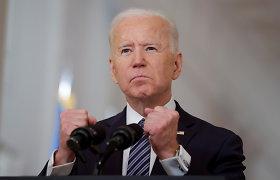 """""""The New York Times"""". Žudiku pavadintas Vladimiras Putinas įsiuto: Joe Bidenui parengta propagandos dozė"""