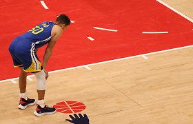 Sugrįžo į Žemę: po rekordinės serijos – košmariškas Stepheno Curry vakaras