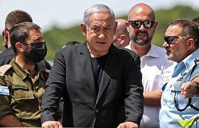 """B.Netanyahu: """"Hamas"""" peržengė neleistiną ribą, Izraelis """"galingai atsakys"""""""