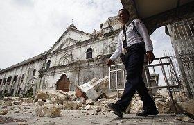 Pietų Filipinus supurtė stiprus žemės drebėjimas