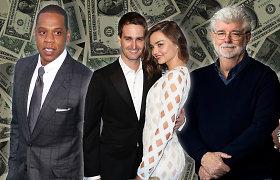 Milijardieriui klubui priklausančios pramogų pasaulio garsenybės: iš kur tokie turtai?