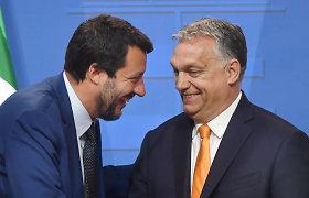 Italijos M.Salvini susitiks su V.Orbanu dėl naujo Europos kraštutinių dešiniųjų aljanso